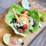 Chicken BLT Lettuce Wraps | Honey Mustard Dressing