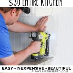 $30 Beadboard Kitchen Backsplash Tutorial