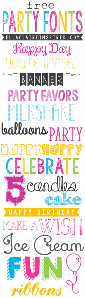 Free Party Fonts - Ella Claire