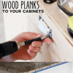 How to Add Wood Planks to Your Cabinets