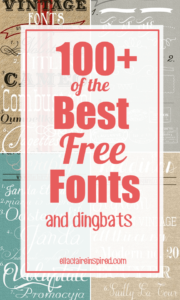 100+ of the Best Free Fonts!