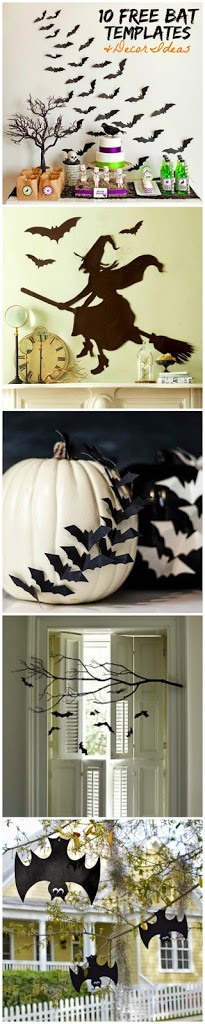 Decorating Ideas > Free Bat Templates And Halloween Decor Ideas  Ella Claire ~ 214210_Halloween Decoration Ideas Templates
