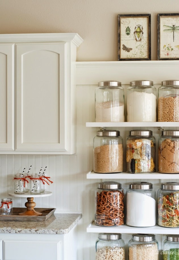 My fall home tour ella claire for Glass jar kitchen ideas