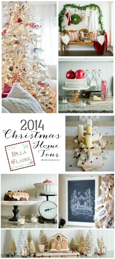 Ella Claire 2014 Christmas Home tour