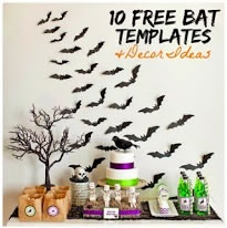 Free Bat Templates and Halloween Decor Ideas