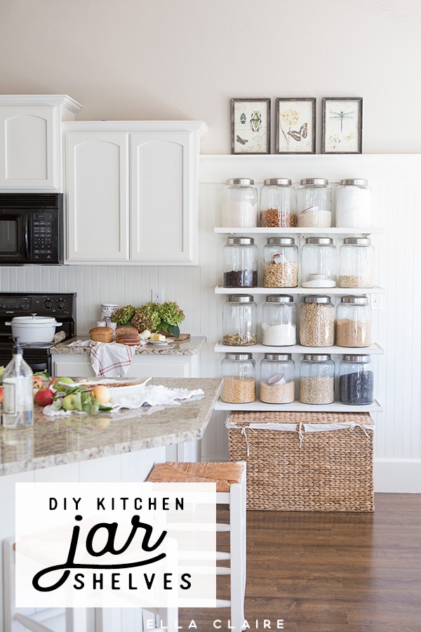 Add Extra Pantry Storage And Organization To A Small Kitchen On A Budget  With DIY Jar