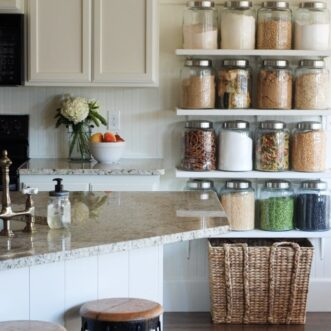 DIY Kitchen Jar Shelves Tutorial