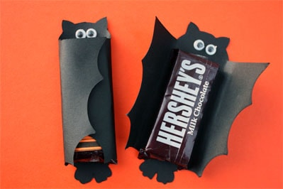 Free Printable Halloween bat candy bar covers