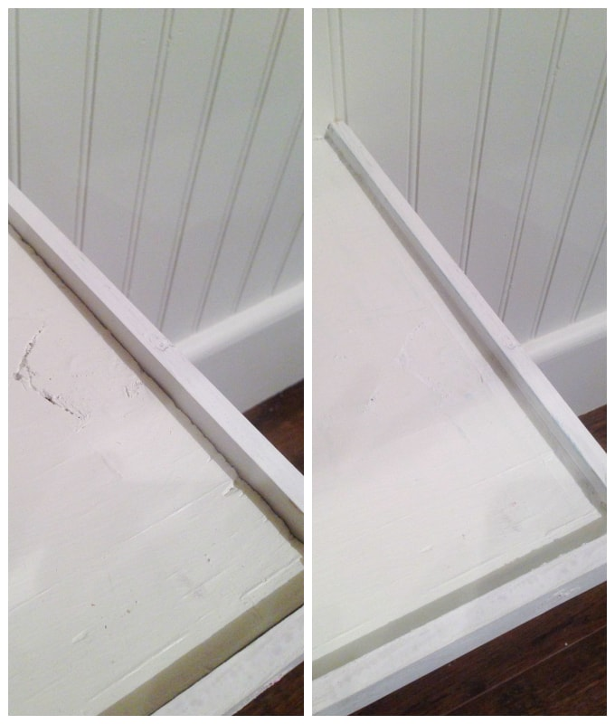 before and after caulking