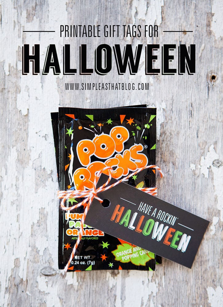 Pop Rocks Free printable gift tags for Halloween