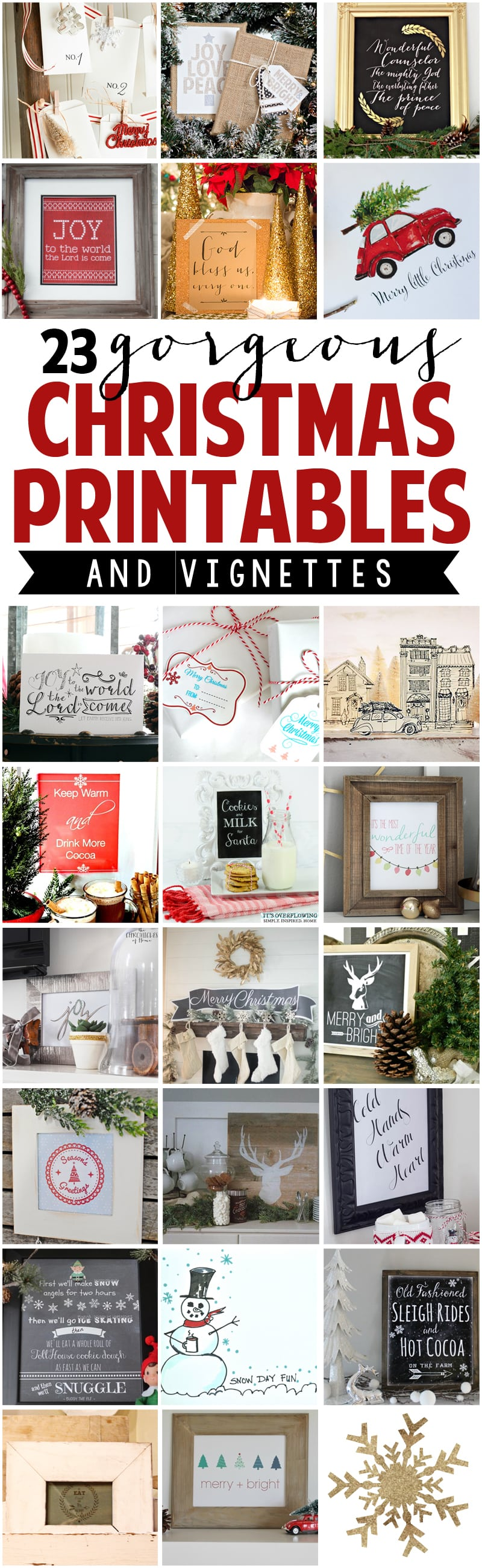 Free Printable Vintage Christmas Advent Calender from Ella Claire