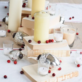 Christmas tablescape by Ella Claire
