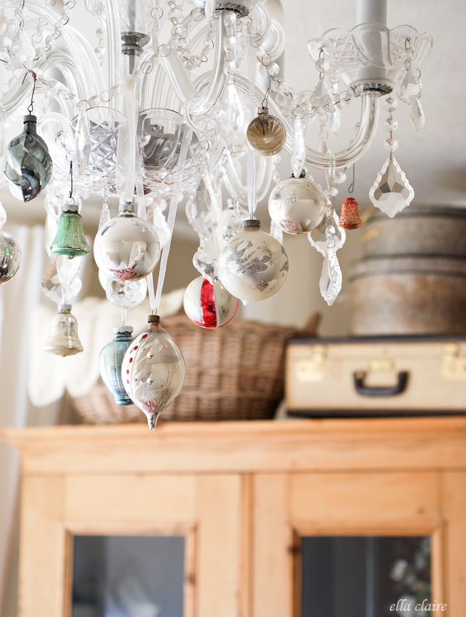 I love this vintage Christmas Chandelier