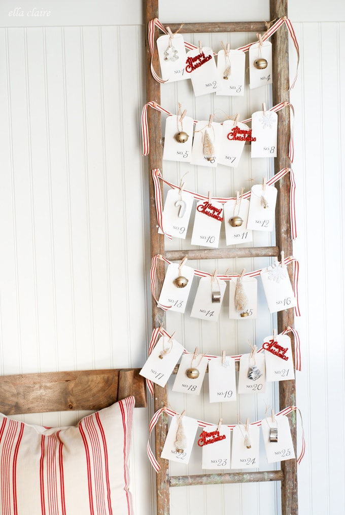 Free Printable Vintage Christmas Advent Calendar