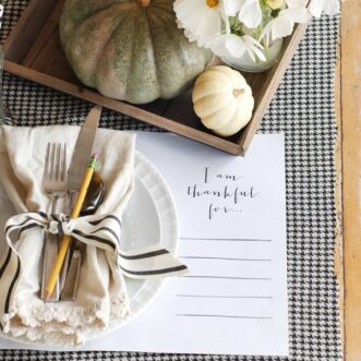 Autumn Tablescape | Free Printable Placemat