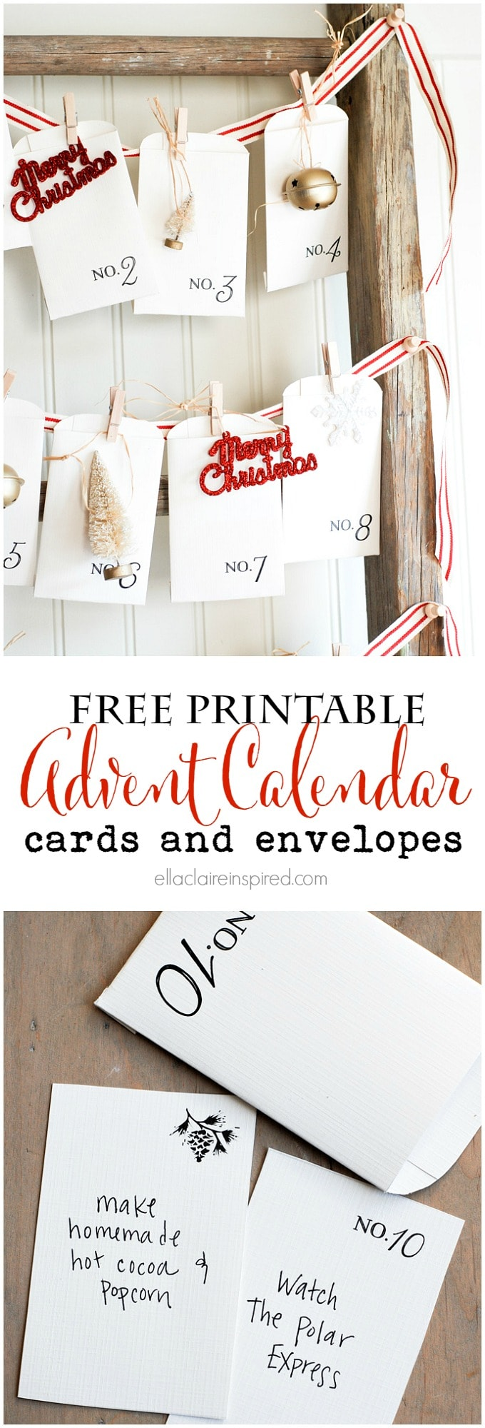 November Calendar Diy : Free printable vintage christmas advent calendar ella claire