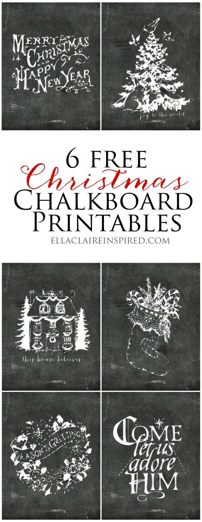 6 free Chalkboard Printables