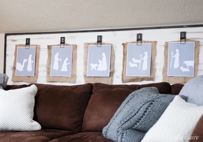 photograph about Free Printable Silhouettes called No cost Printable Nativity - Ella Claire