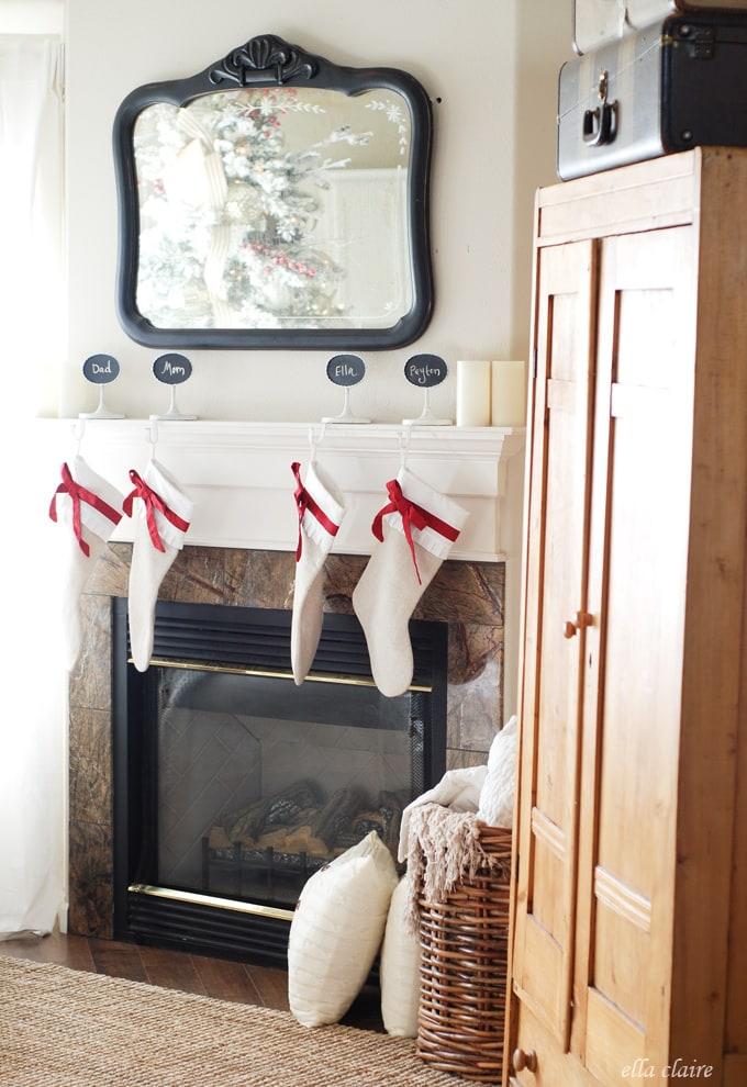 Christmas Mantel by Ella Claire