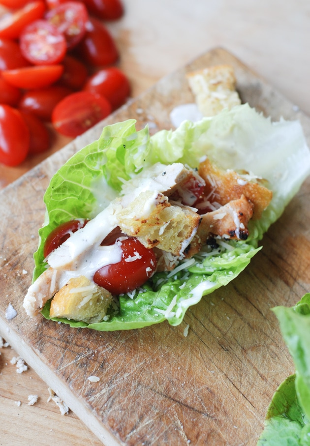 Grilled Chicken Caesar Lettuce Wraps