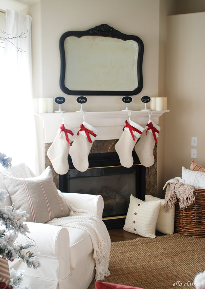 Gorgeous Christmas Mantel from Ella Claire
