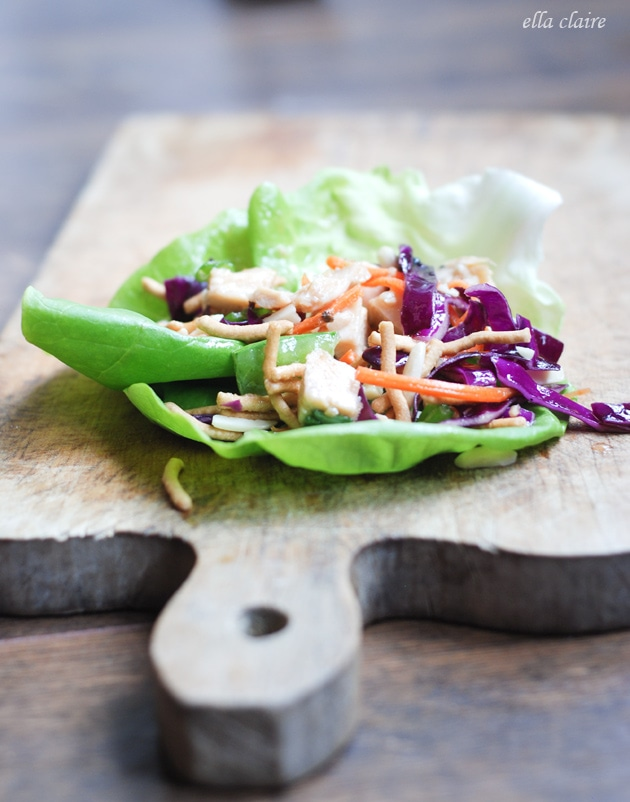 Chinese Chicken Salad Lettuce Wrap