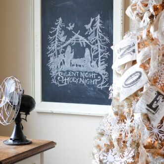 Nativity Chalkboard Art | Free Printable and Template