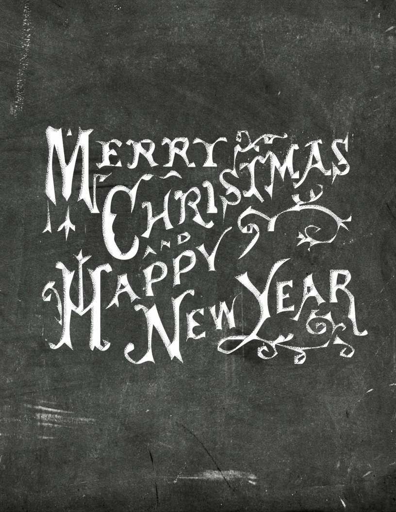 6 Free Christmas Chalkboard Printables | My Gift to You - Ella Claire