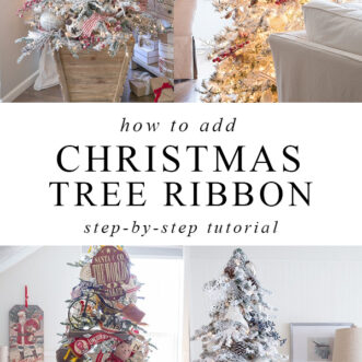 many different kinds of Christmas tree ribbon