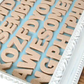 DIY Cork Typography