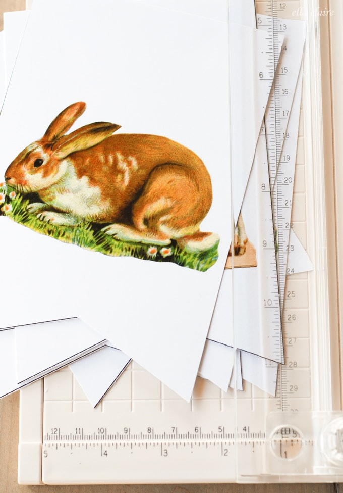 Vintage Free Printable Easter Bunny and Lamb Banner