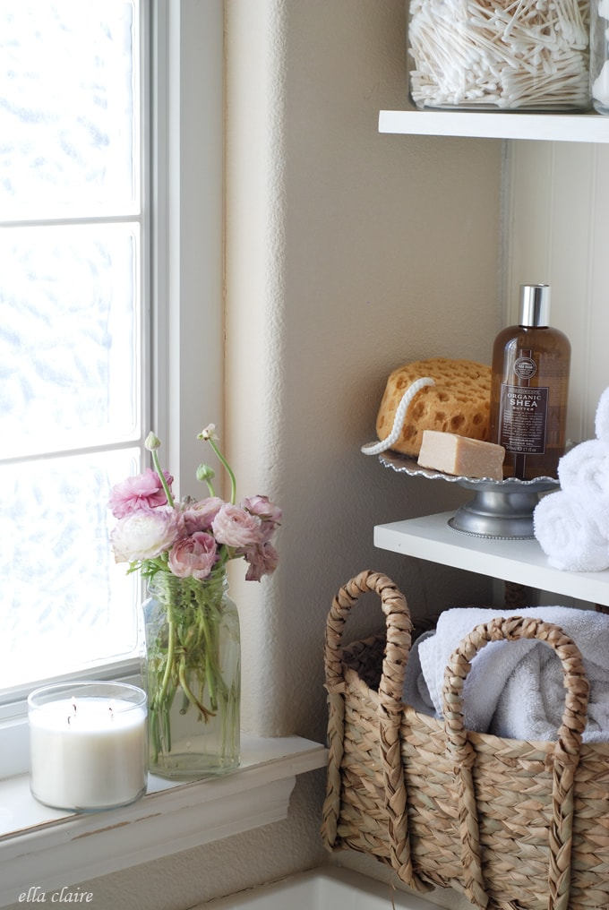 Diy Bathroom Linen Shelves Ella Claire