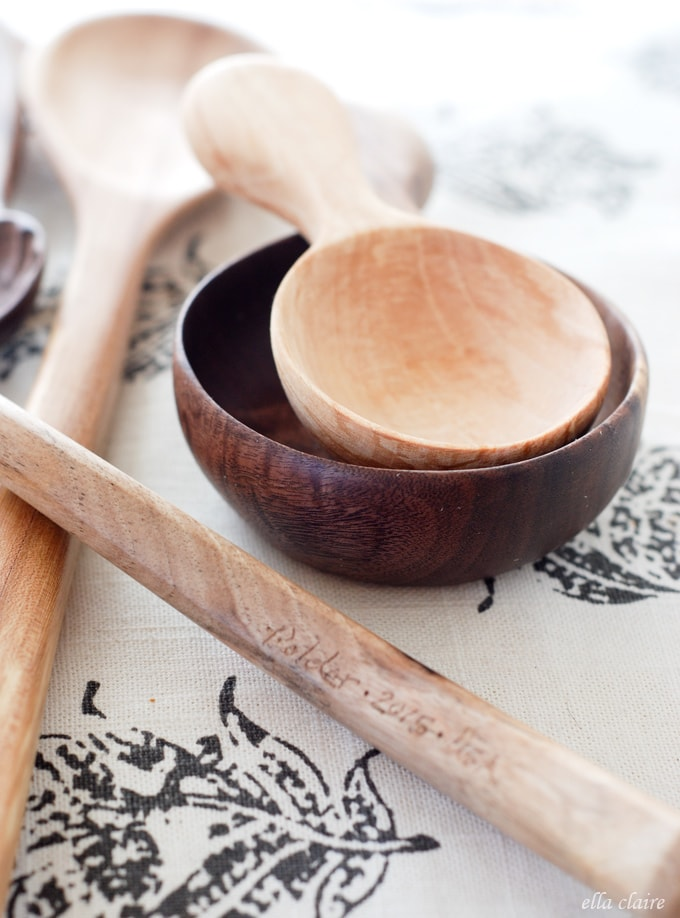 Rice Pudding and Handcarved spoons