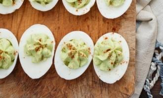 Delicious, healthy and easy Avocado Deviled Eggs