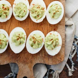 Delicious, healthy and easy Avocado Deviled Eggs