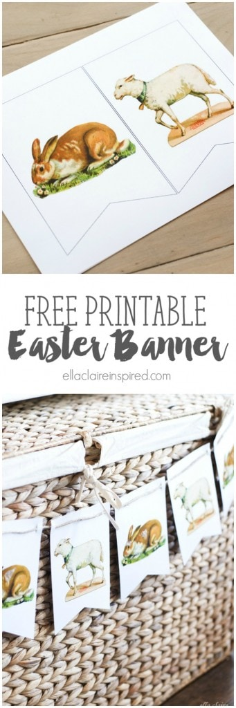 This adorable Free Printable Vintage Easter Bunny and Lamb Printable is so sweet and easy to put together!