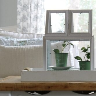 DIY Picture Frame Greenhouse Terrarium
