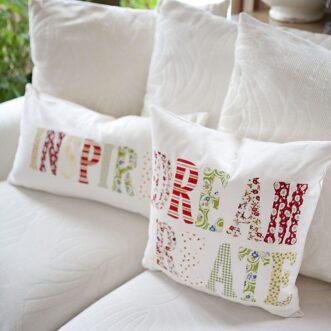 DIY Inspiration Throw Pillows | Tutorial