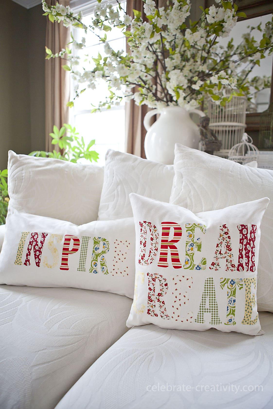 Схема декор подушек своими руками фото