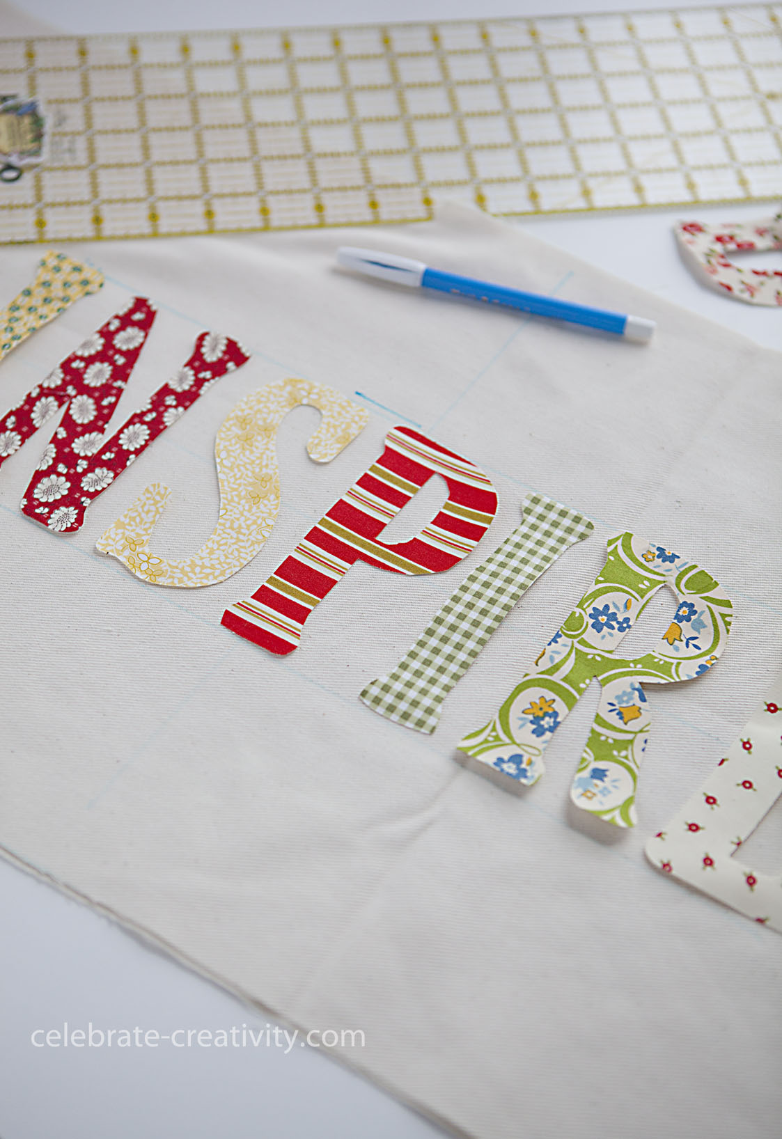 How to sew pillow letters
