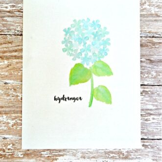 Watercolor Hydrangea | Free Printable
