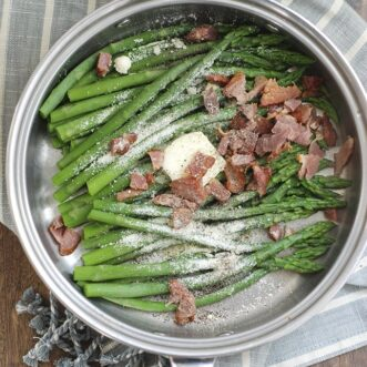10 Minute Bacon Asparagus