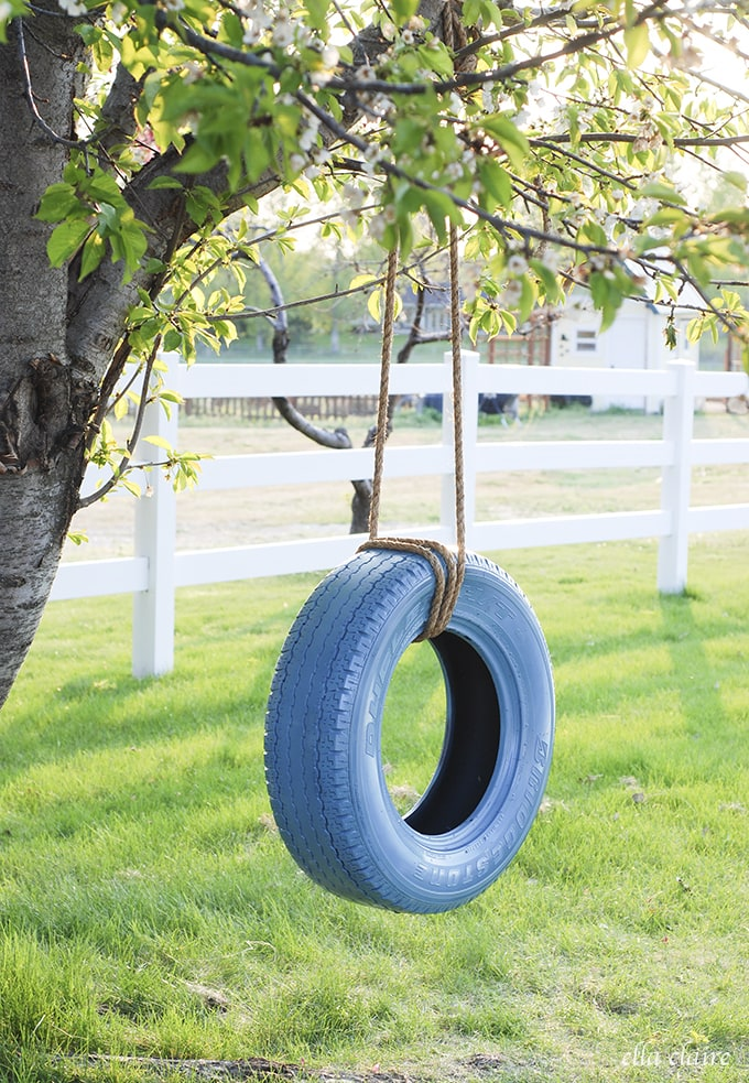 Easy and Fun DIY Tire Swing Tutorial