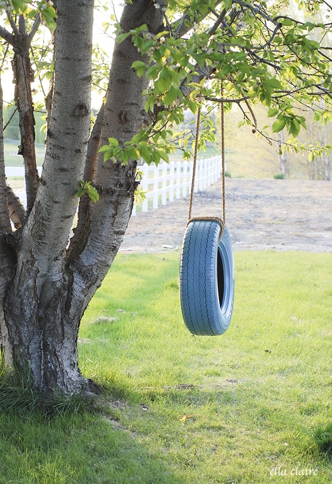 Easy DIY Tire Swing Tutorial