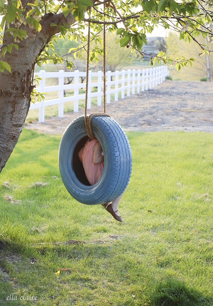 DIY Tire Swing Tutorial Easy DIY Tire