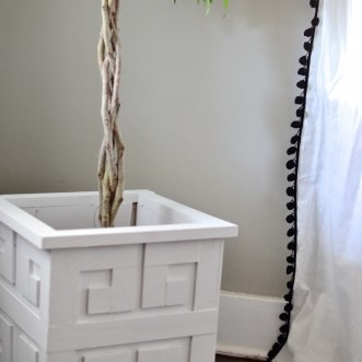 DIY Greek Key Planter