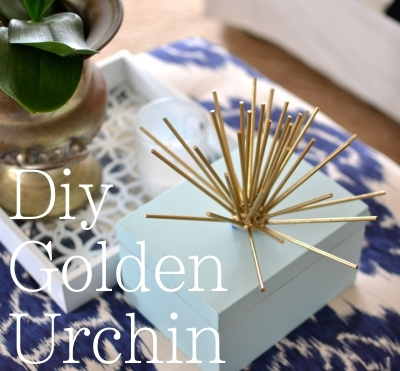 DIY Golden Urchin