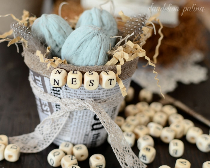 farmhouse nest basket