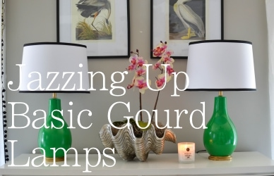 Jazzing up Basic Gourd lamps