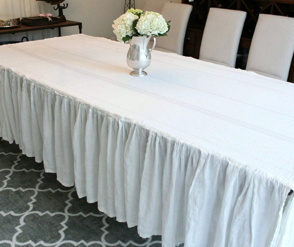 Ruffled Tablecloth | somuchbetterwithage.com